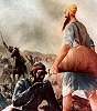 A Sikh aiding the enemy. Sikhs view all as equal.