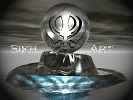 This is a Khanda fused with art to make Sikh Art