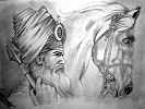 Sketch of a Sikh warrior