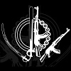 Khanda in the shape of modern weapons
