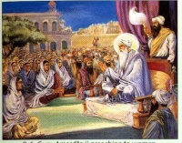 Guru Amar Das preaching equality for Women