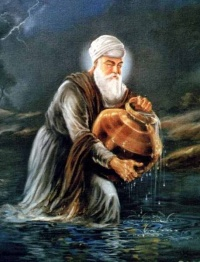 Bhai Amar Das Ji fetching water for Guru Angad Sahib Ji