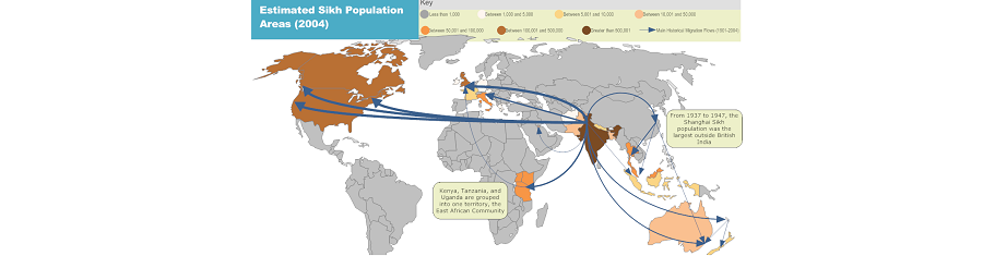 World Sikh population in 2004